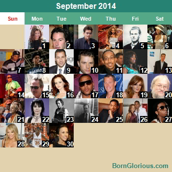 Famous People's Birthday Calendar, United States, (2014)
